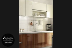 High Quality Melamine Surface Kitchen Modern Furniture (zg-039) pictures & photos