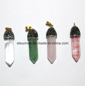 Semi Precious Stone Gemstone Crystal Quartz Pointed Pendant pictures & photos