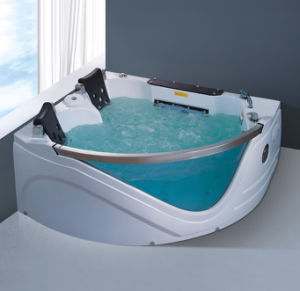 Hot Sales Glass Acrylic Double Person Massage Bathtub Nj-3003 pictures & photos