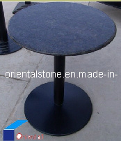 Black Grainte Stone Round Furniture Table for Outdoor