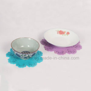 Rose Silicone Dish Coaster for Home Decoration pictures & photos