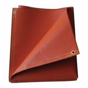Red Fiberglass Fabric with Silicone Coating for Fire Blanket