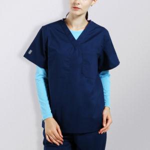 Fashionable Navy Blue Scrubs Suit Designs Medical Uniform pictures & photos