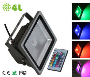 RGB 30W Outdoor LED Flood Light with CE RoHS FCC Approval