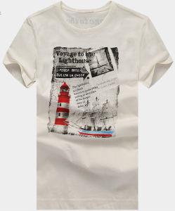 Men Cotton Fashion Summer Wholesale Round Neck T-Shirt pictures & photos