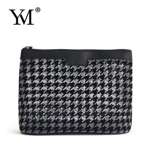 Promotional Houndstooth Pattern Mesh Cosmetic Bag pictures & photos