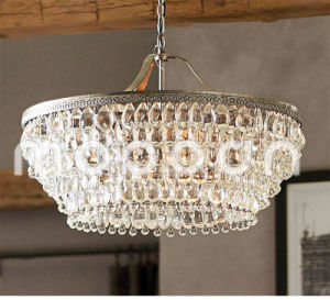 Modern European Iron Metal Art Luxury Bronze E14 LED Crystal Chandelier for Living Room pictures & photos