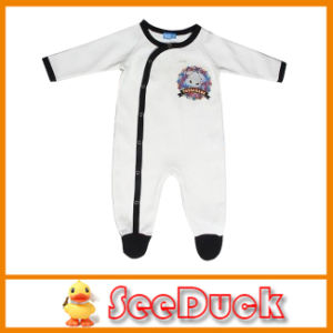 Long Sleeve with Cute Graphic Baby Romper Ks1554