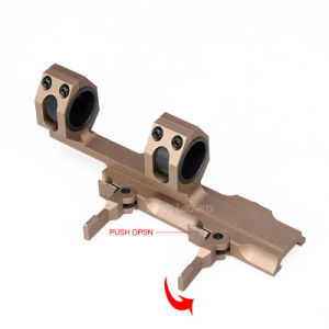 Tactical Airsoft Rifle Gun Double Ring Scope Mount with Rail pictures & photos
