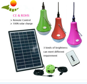 Portable Solar Home Light, Solar LED Home Lighting with 12W/9W/6W Solar Panel pictures & photos