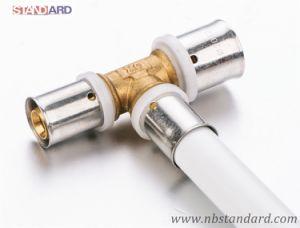 Pex-Al-Pex Pipe Fitting/Brass Press Fitting/Brass Tee