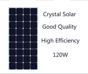 Ce FCC RoHS Approved High Performance 120W Semi Flexible Solar Panel