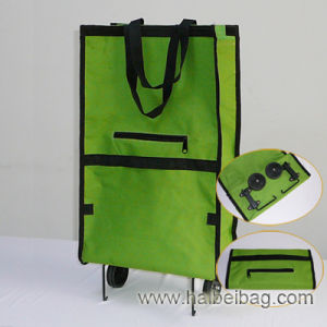 Foldable Portable Wheeled Shopping Trolley Bag (HBST-1) pictures & photos