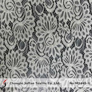 Textile Tricot Lace Fabric Wholesale (M3445-G) pictures & photos