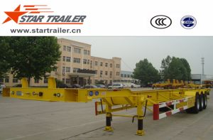 3 Axles Skeleton Container Chassis Trailer with Goose-Neck pictures & photos