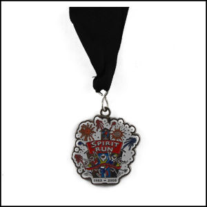 Nickel Plated Medal and Ribbon, Enamel Medal (GZHY-JZ-017) pictures & photos