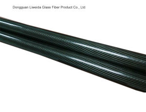 3k Roll Wrapping Carbon Fibre Tube, Carbon Fiber Pipe/Pole
