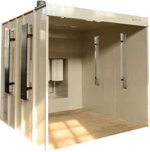 Walk in Type Manual Powder Coating Booth with High Performance pictures & photos