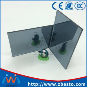 Cheap Decorative Blue Colored Silver Mirror