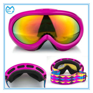 Pink TPU Frame PC Electric Adjustable Ski Goggles for Girl pictures & photos