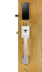 Zinc Alloy Smart Door Lock Electronic Bluetooth Exterior Entrance Handleset Lock pictures & photos
