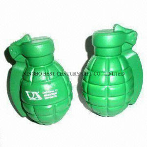 Wholesale PU Hand Grenade Stress Reliever with Custom Logo