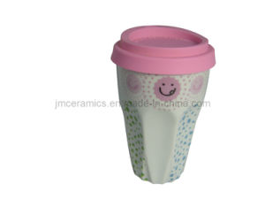 Novelty Coffee Cup Mug with Silicone Lid