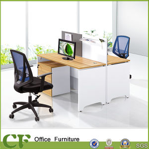 modular wooden office 2 person office workstation with pin board