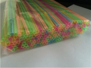 Disposable Neon Color Flexible Drinking Straw pictures & photos