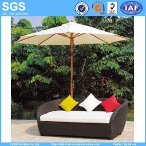 Leisure Furniture 3 Seater Poly Rattan Wicker Sofa pictures & photos