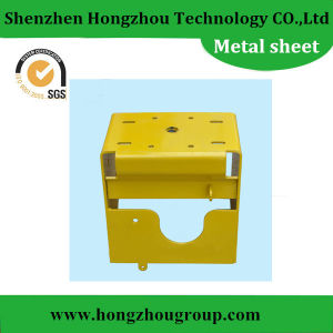 Yellow Color Powder Coated Sheet Metal Fabrication Frame pictures & photos