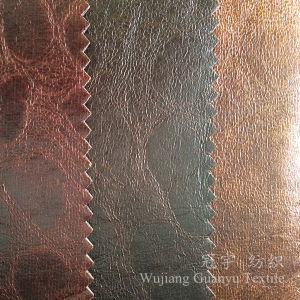 Suede Leather 100% Polyester Imitation Yarn Bronzed Fabric for Furnitures pictures & photos