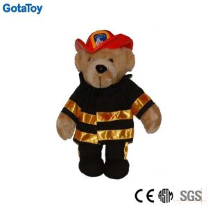 Custom Stuffed Toy Plush Fireman Teddy Bear in Uniform Soft Toy pictures & photos