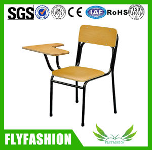 College Wooden School Student Chair with Writing Pad pictures & photos