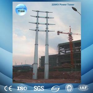 Galvanized 220kv Monopole Transmission Tower pictures & photos