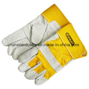 Cow Split Leather Working Gloves 1201 pictures & photos