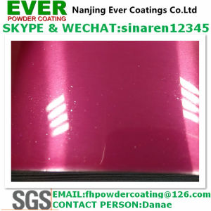 Decorative Bright Glitter Pink Color Powder Coating Paint for Automobile/Bike/Bicykle/Motorcycle pictures & photos