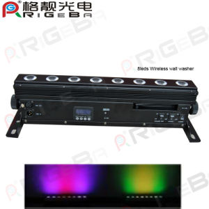 RGBW and RGBWA 8LEDs Wireless Wall Washer pictures & photos