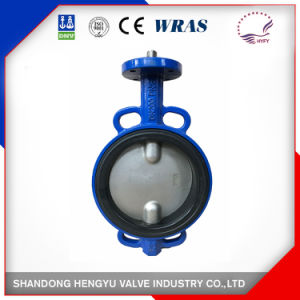 Midline Butterfly Valve Wafer Type with Double Stem pictures & photos