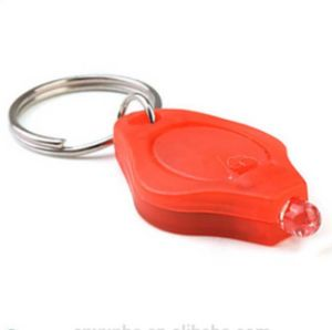 Red Color LED Light Keychain with Logo Printed (3032) pictures & photos
