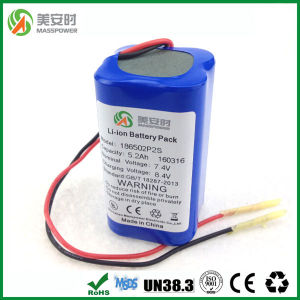 7.4V 18650 Battery 5000mAh pictures & photos
