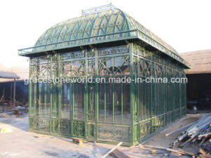 Galvanized Wrought Iron Green Gazebo, Big Size Iron Greenhouse pictures & photos