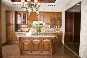 American Style Cherry Wood Kitchen Cupboard