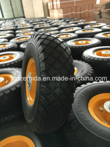 13 X5.00-6 Flat Free Rubber Wheel with Smooth Tread for Zero Turn Radius Commercial Mowers pictures & photos