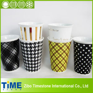 Strong High White Durable Porcelain Travel Mug pictures & photos