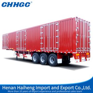 Chhgc 3 Axles Enclosed Van Transport Semi Trailers for Sale pictures & photos