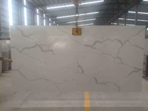 Striped Marble Kitchen Countertop & Vanity Top Quartz Slab