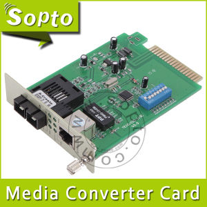 10/100m 40km Sc Manageable Fiber Media Converter Card (SPM-CT43-N20SC)