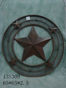 Metal Star Wall Decor for Garden Decoration & Home Decoration