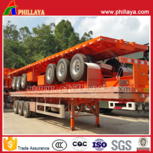 40ft Container Transport Flatbed Platform Semi Truck Trailer pictures & photos